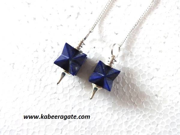 Lapiz Lazuli Merkaba Mounted Pendulums