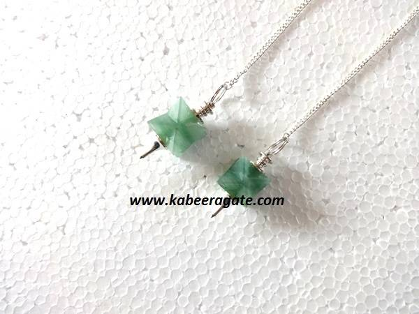 Green Aventurine Merkaba Mounted Pendulums