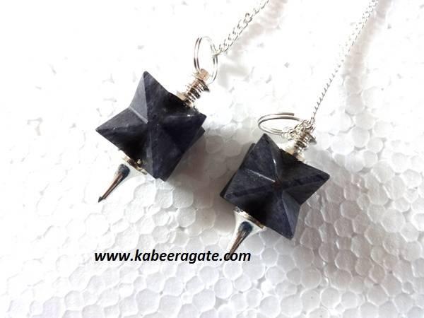 Blue Aventurine Merkaba Mounted Pendulums