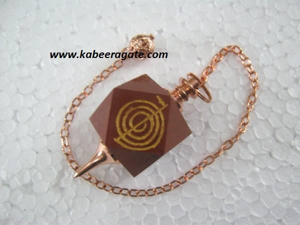Red Jasper Cho Ko Reiki Pendulum (Bronze)