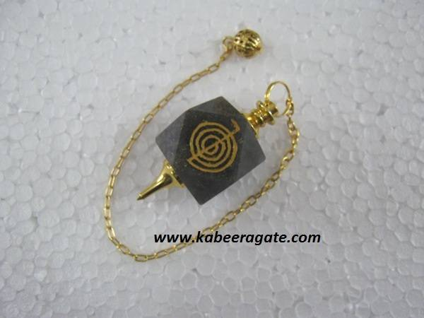 Blue Aventurine Cho Ko Reiki Pendulum (Golden)