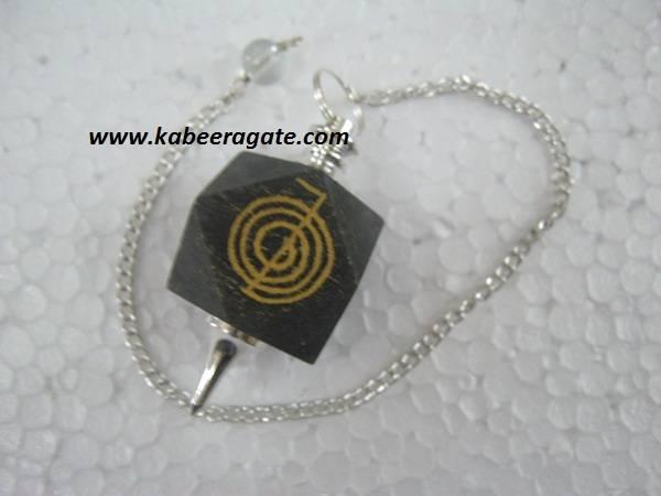 Blue Aventurine Cho Ko Reiki Pendulum (Silver)