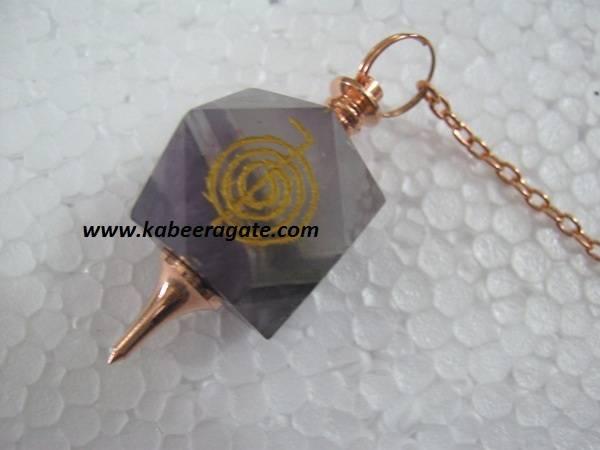 Amethyst Cho Ko Reiki Pendulum (Bronze)