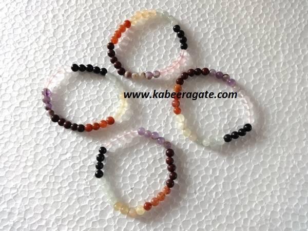 Chakra Bracelets with Elastic