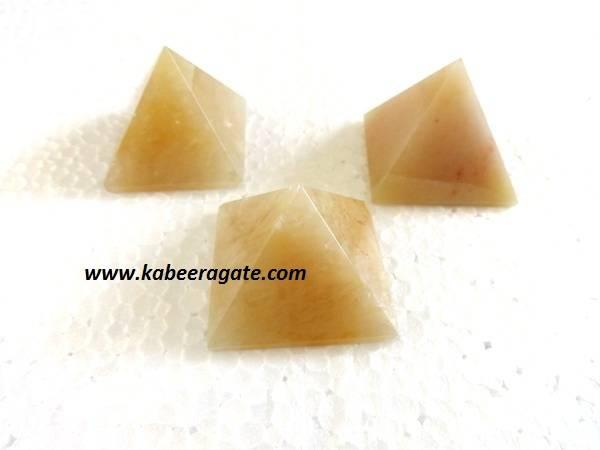 Yellow Aventurine Pyramids