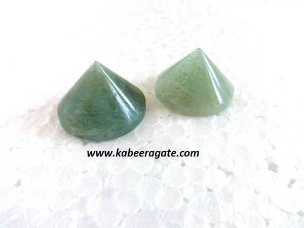 Green Aventurine Conical Pyramids