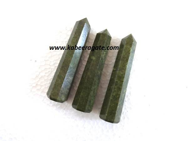 Grass Jasper Obelisks