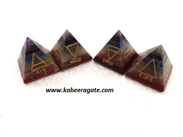 Chakra Bonded Elements Pyramids
