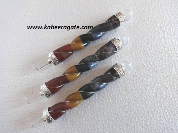 Bonded Chakra Twisted Healing Stick