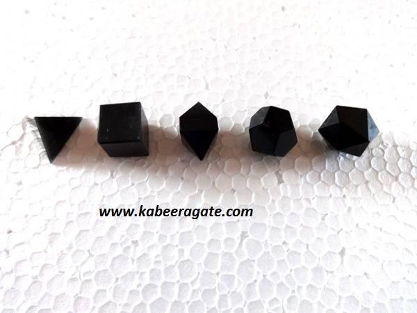 Black Tourmoline 5pcs Geometry Set