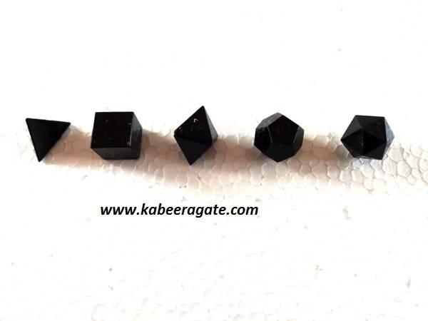 Black Obsidean 5pcs Geometry Set