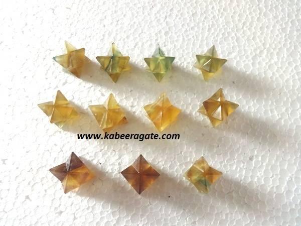 Multi Fluorite Merkaba Star