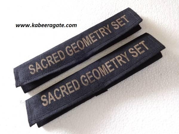 Sacred Geometry Set Valvet Pouch