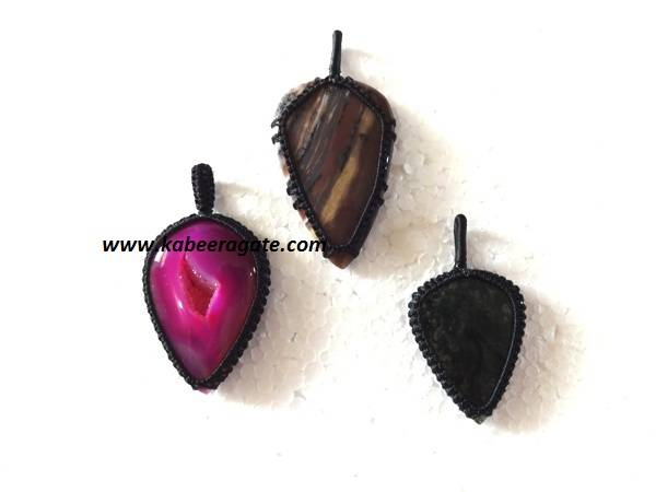 Tibetian Drop Shape Netted Pendents