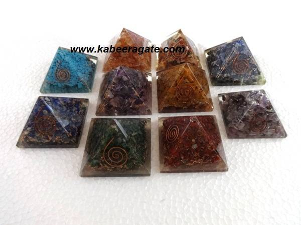 Assorted Orgone Pyramids