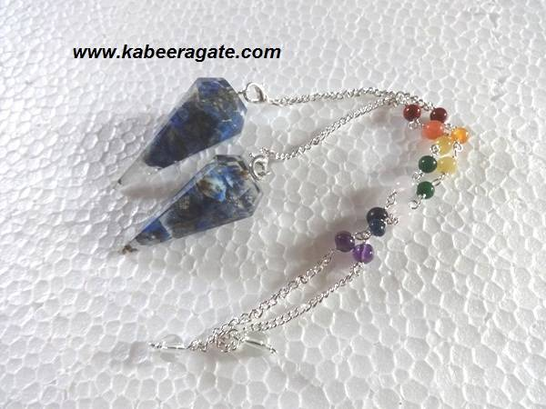 Lapiz Lazuli Orgone Pendulums With Chakra Chain