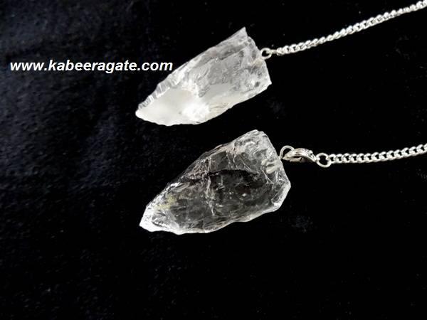 Crystal Quartz Cluster Pendulums
