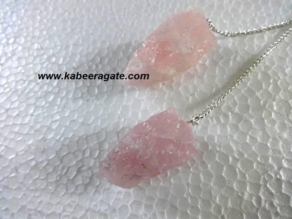 Rose Quartz Cluster Pendulums
