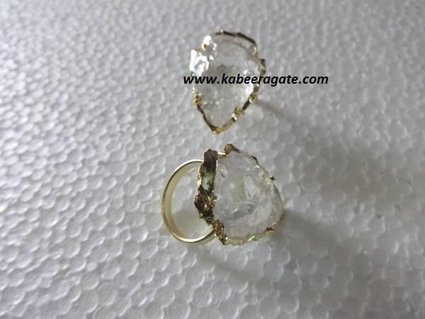 Crystal Quartz Arrowheads Rings