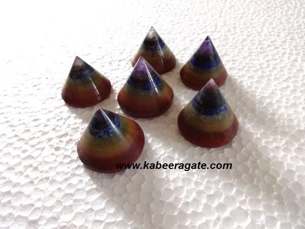 Chakra Bonded Conical Pyarmids