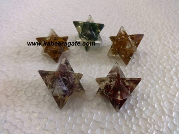 Assorted Orgone Merkaba Star