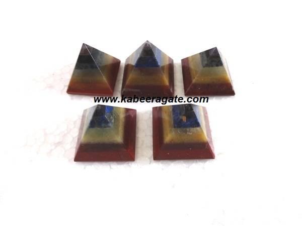 7 Chakra Bonded Pyramids (Small)