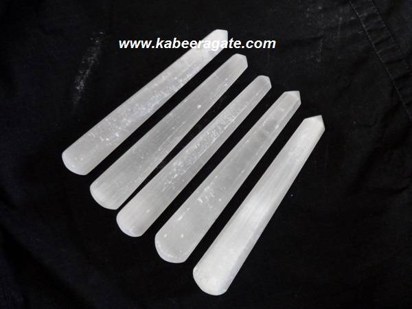 White Selenite Massage Wands