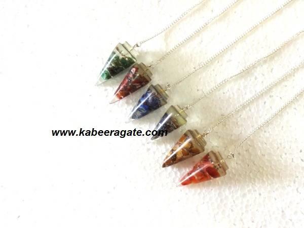 Assorted Orgone Cone Pendulums