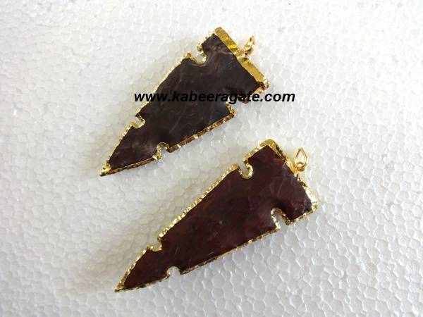 Curved Arrowheads Pendent with Electroplating