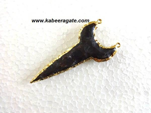 Shark Tooth Pendent with Electroplating