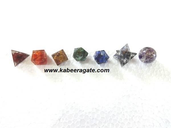 Seven Chakra Orgone Geometry Sets