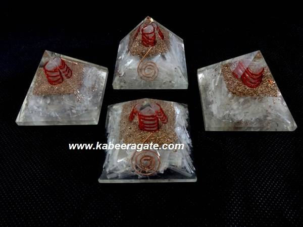 Selenite Orgone Pyramids with Cho ko reiki