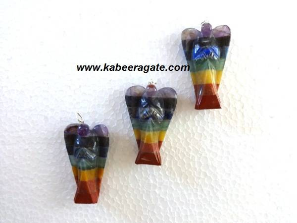 Chakra Bonded Angel Pendents