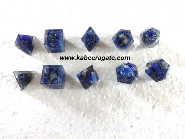 Lapiz Lazuli Orgone Geometry Set (5pcs)