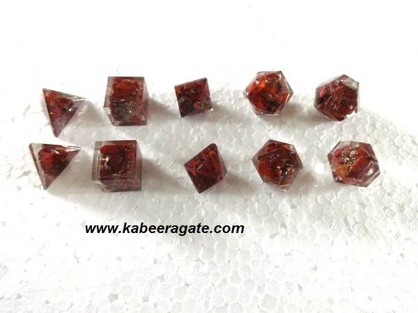 Red Jasper Orgone Geometry Set (5pcs)