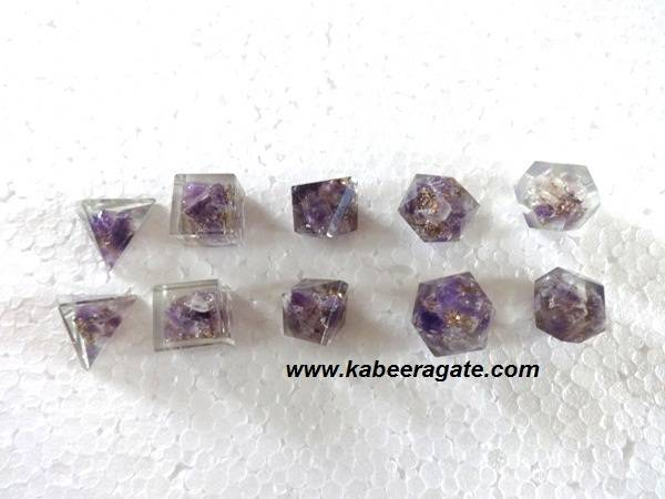 Amethyst Orgone Geometry Set (5pcs)
