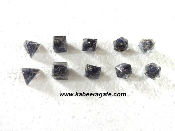 Blue Aventurine Orgone Geometry Set (5pcs)