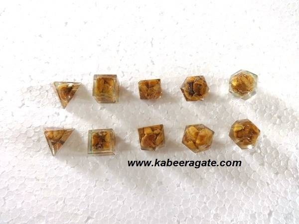 Yellow Aventurine Orgone Geometry Set (5pcs)