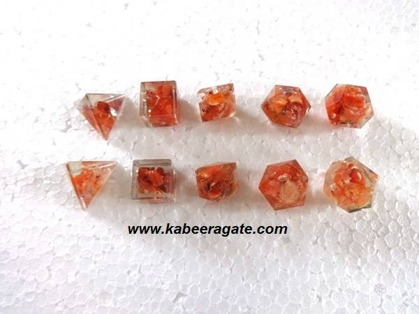Orange Aventurine Orgone Geometry Set (5pcs)