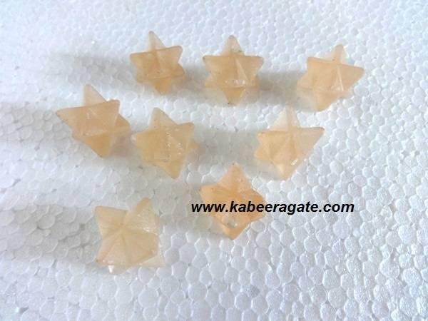 Orange Salenite Merkaba Star