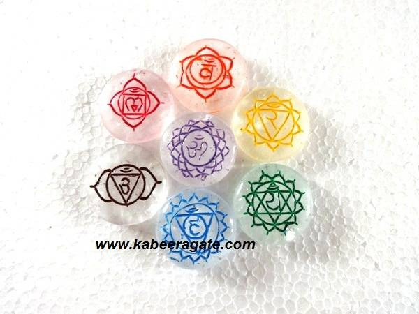 Colorful Crystal Quartz Round Sanskrit Set