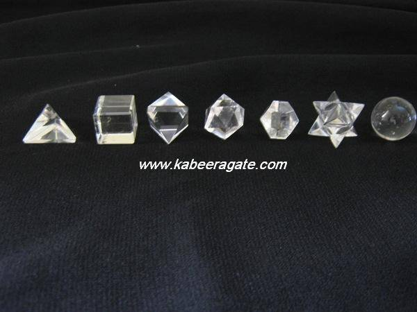 Crystal Quartz 7pcs Geometry Set