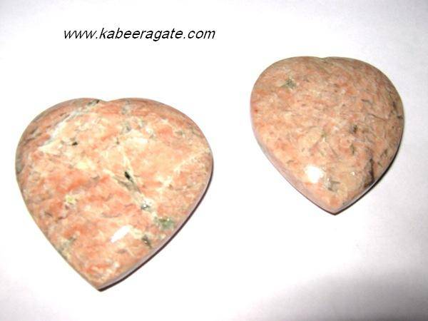 Pink Moonstone Pub Hearts