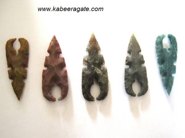 Curved Arrowheads With Inside Hole