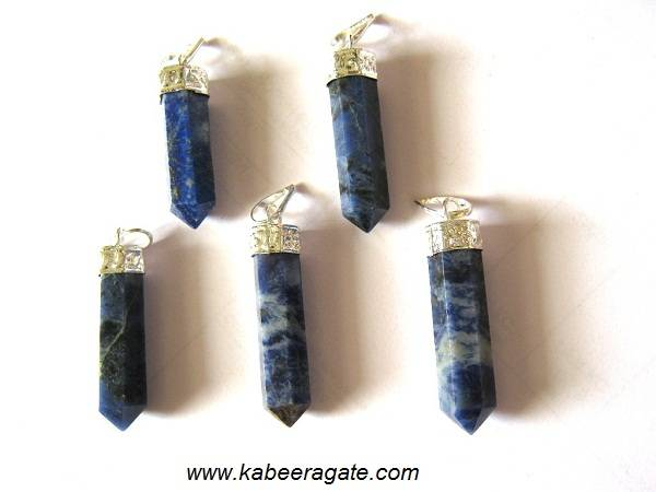 Sodalite Pencile Pendents