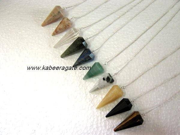 Mix Stone Faceted Pendulums