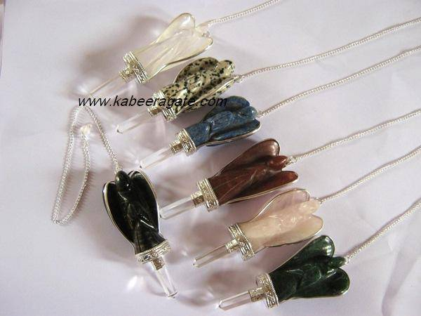 Mix Stone Angel Pendulums