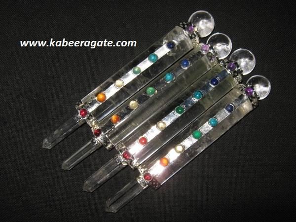 Chakra Crystal Quartz Smoth Healing stick