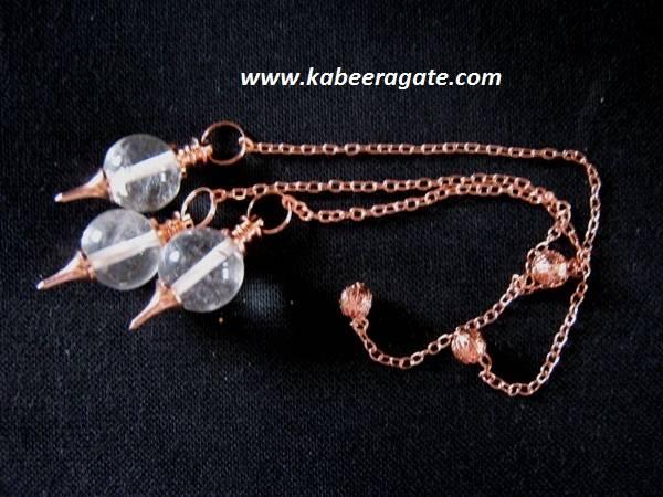 Crystal Quartz Ball Pendulum (Copper)