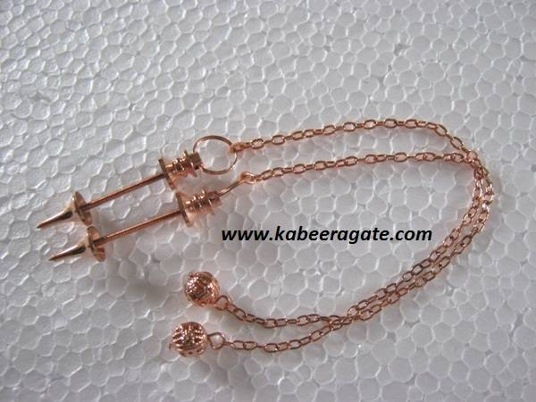 Copper Mounting for Pendulum with Chain